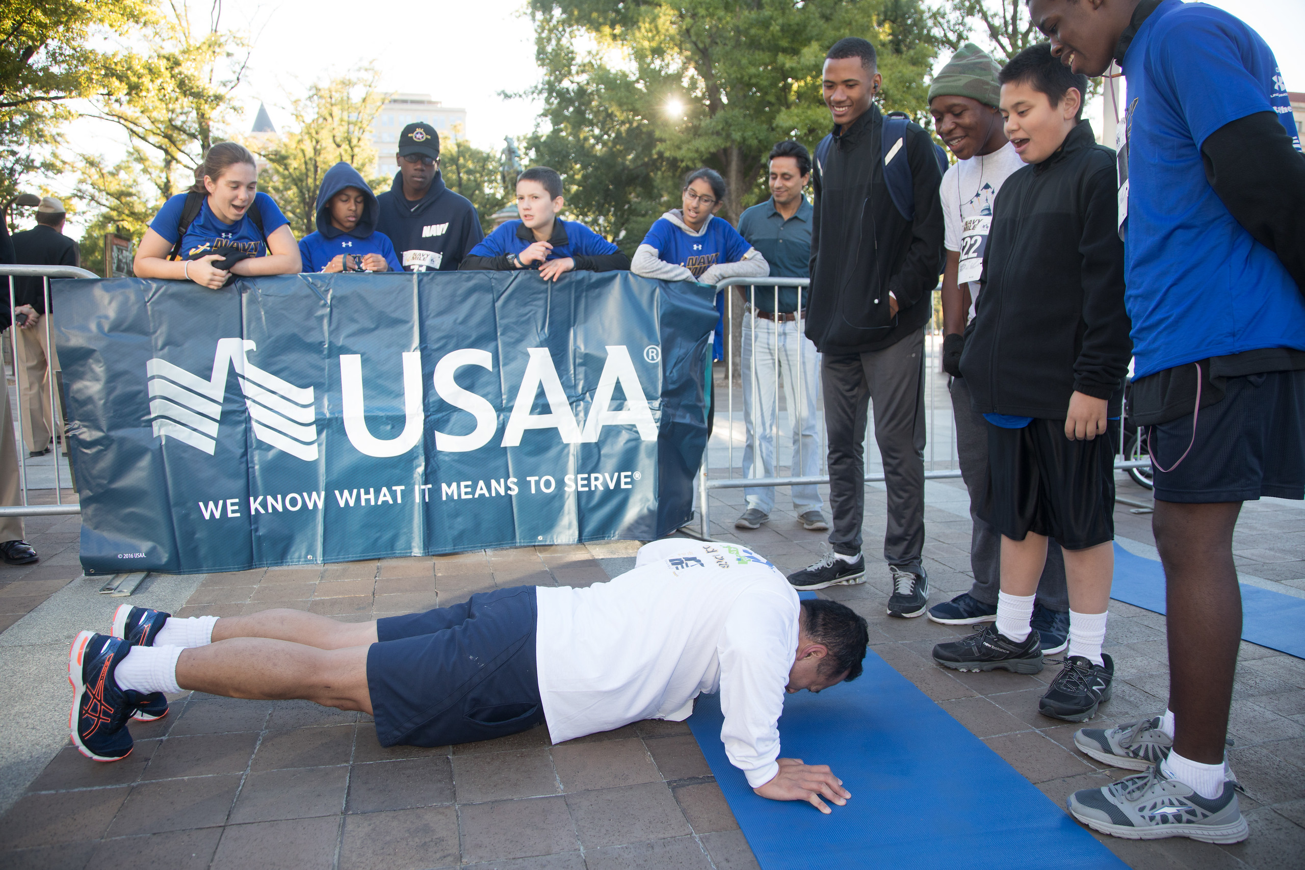 DC Navy Mile Push-Up Contest