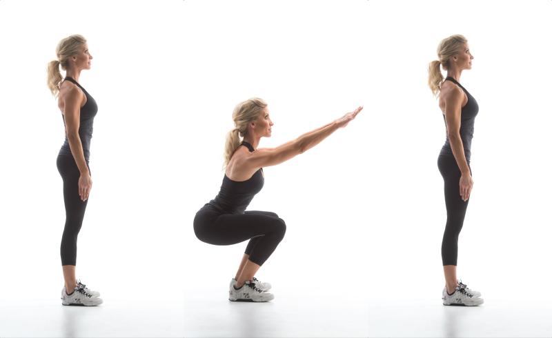 how to do an air squat